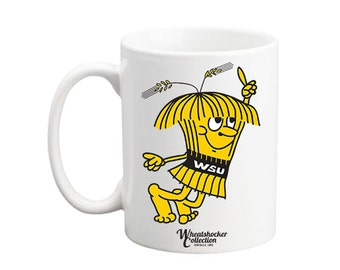 Licensed Wichita State University WSU Wheatshocker collection vintage WUshock mug