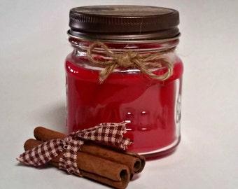 Apple Cinnamon 8 oz. Mason Jar Candle