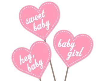baby shower photo booth props instant download