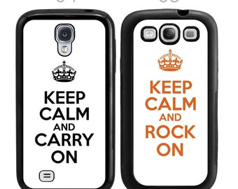 Customized Keep Calm and Carry On Samsung Galaxy Case