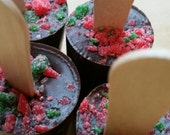 Hot Chocolate on a Stick - Peppermint hot chocolate - solid chocolate - party favors - Christmas parties