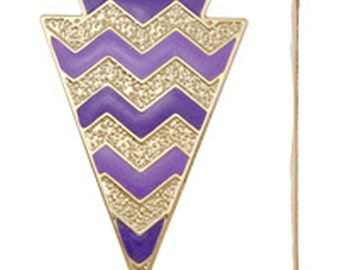 2pc 75x50mm gold plated iron with enamel pendant-5901m