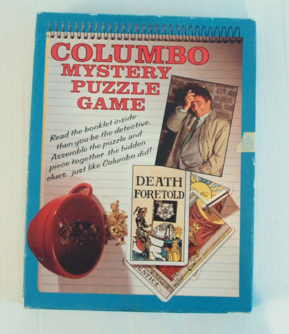 Columbo Mystery Puzzle Game Jigsaw Death Foretold TV Tie-In