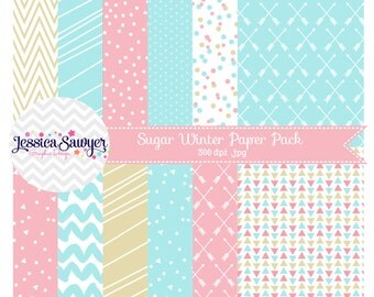INSTANT DOWNLOAD, pink and aqua digital paper or pastel backgrounds for commercial use or personal use
