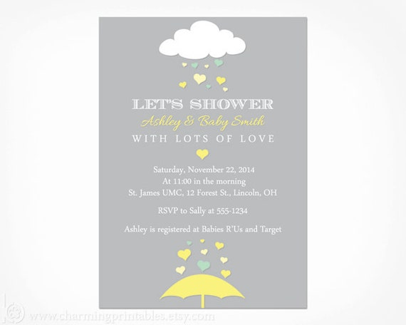 Yellow and gray baby shower invitation printable pdf file il570xn filmwisefo