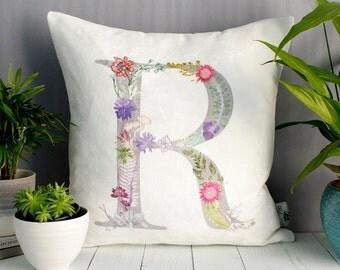 Personalized Alphabet, Handmade Gift, Decorative Cushion