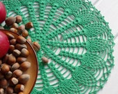 Pineaple crochet doily Green lace doilies Cotton doilie Round lace doily Crochet doilies centerpiece Table decorations Home decor Spring