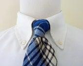 "RARE Vintage SCOTTISH TWEED 100% Wool ""Napier"" Plaid Tartan Trad / Ivy League Neck Tie.  Made in Scotland."