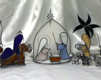 Made To Order Christmas Nativity In Your Choice Of Colors This is for the deposit only, balance due upon completion