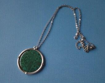 Dark Turquoise Bird Necklace