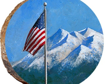 Flag with Mountains in the Background - DFG013