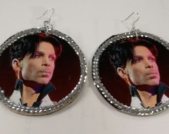 Prince bling earrings