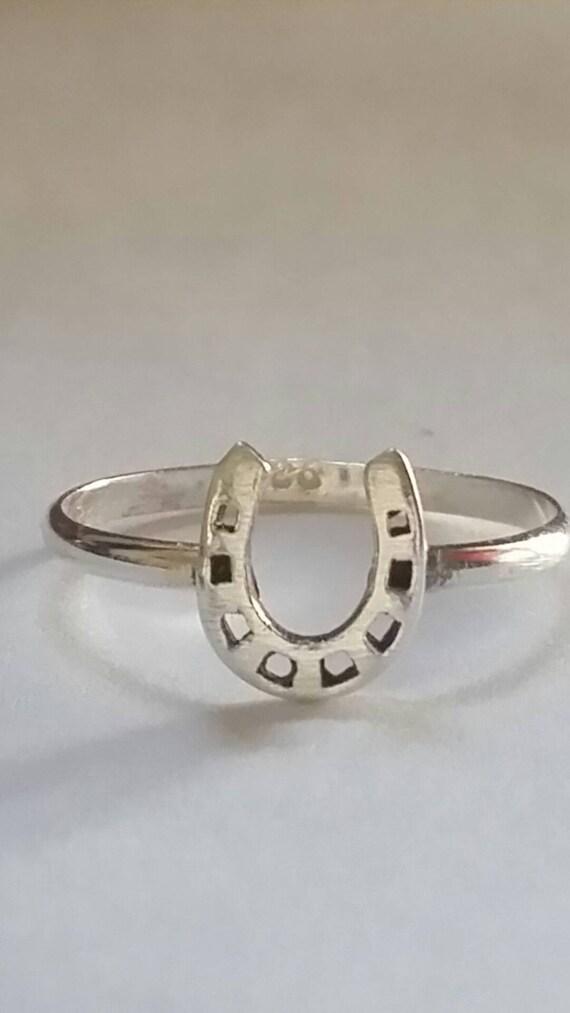 horseshoe ring sterling silver rings silver horseshoe