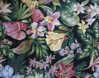 Vintage decor fabric Anju/Woodridge Inc flowers floral 1 yard 25 inches 54 inches wide