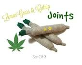 Cat Toys -  LemonGrass & Catnip Joints - Set Of 3