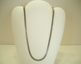 "Vintage 24"" Silver Tone Flat Chain Necklace (8250)"