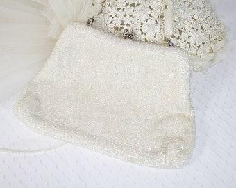 Vintage Beaded Evening Bag Iridescent Beaded Handbag Vintage Wedding Purse Vintage Julius Garfinkel & Co Handbag