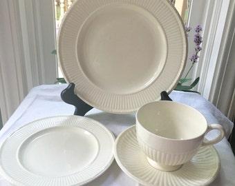 4 Piece Set Wedgwood Creamware Edme Pattern