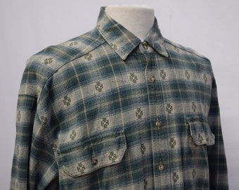 Levi Green Checkered Flannel Shirt