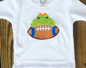 Florida gators shirt faux pocket for gameday gators for Florida gators the swamp shirt