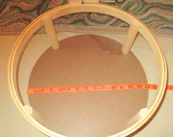 Hooking,  Hooking Frame, 14'  round,   from a hooking  store in W. Paris  Maine
