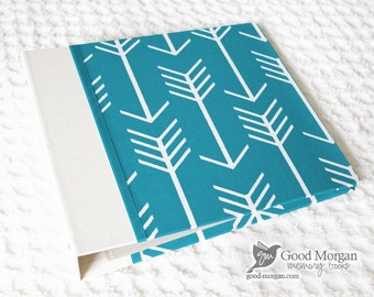 0 to 12 months Baby Memory Book - Teal Arrows