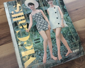 Vintage 1960's McCall's Sewing Pattern Counter Catalog Book - June 1962- Beautiful Fashion Illustration