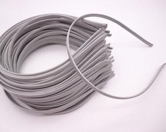 30  pcs Light  Gray Cloth Covered Headband 5mm Wide