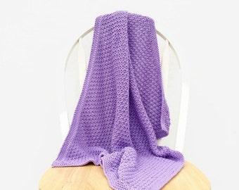 newborn knit blanket | baby girl blanket | baby afghan | new baby gift | pushchair blanket | photo prop blanket