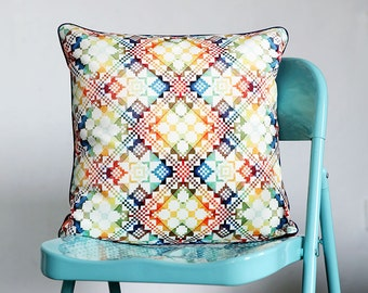 Cushion cover - Red Cushion Cover - Blue Pillow Cover - Yellow Pillow case - Decorative pillow - Throw pillow - 18x18