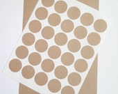 Kraft Labels | 1.5 inch Circles, Brown Kraft Stickers, Circular Labels - Ink Jet and Laser Printable, DIY Labels