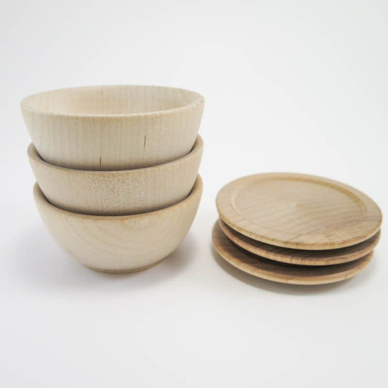 Hand made wooden small bowls and plates by SpikesWoodCrafts |Small Wooden Bowls Saucers
