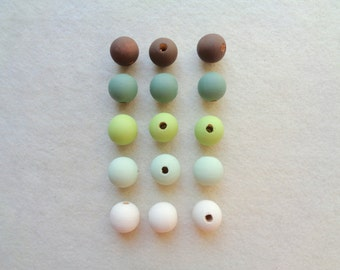 Wood Beads 20mm, Set Do it Yourself necklace