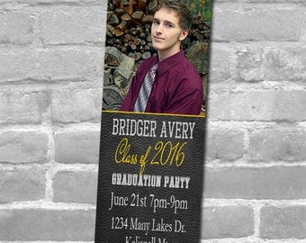 50, 100 or 150 Photo Bookmarks, Great Graduation Invite/Party Favors & Keepsake for your guests,  Any Color