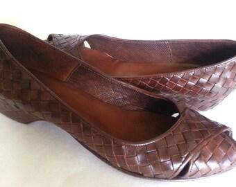 SaLe! 280dollar SESTO MEUCCI Italy Woven Shoes pumps 10