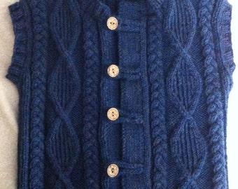 Cable knit vest, size 5