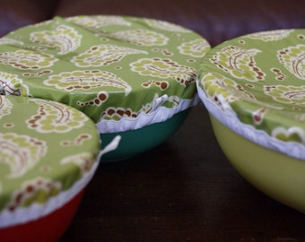 Bowl Covers, Food Storage, Eco Friendly, Reusable Bowl Cover, Fabric Bowl Covers, Bowl Cover, Kitchen Decor, Washable Bowl Covers, Reusable