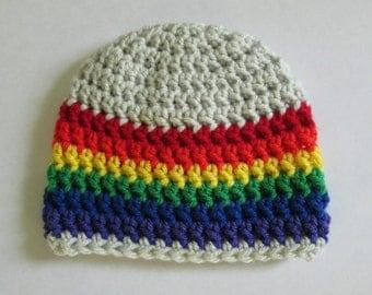 Rainbow Baby,  Rainbow Hat, Rainbow, Rainbow Pride, Gay Pride, Rainbow Newborn, Baby Hats, Toddler Hat, Kids Hats, Womens Hats, Mens Hats