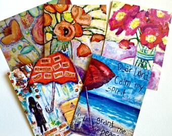 Blank folded notecards