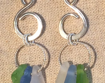 Lake Michigan Beach Glass Earrings