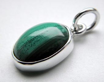 SALE 25% OFF!!! Use the coupon code: SALE25 Malachite sterling silver pendant