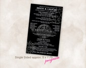 Supernatural printable Wedding Program Instant Download TEMPLATE Just add your info and print!
