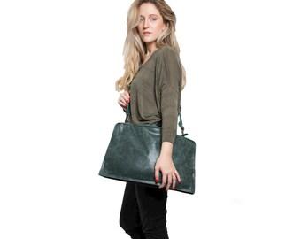 SALE leather cross body bag, men's leather bag, men's messenger bag, leather satchel bag, handmade cross body bag