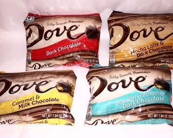 Dove Candy Wrapper Up-cycled Zippered Bags/Pouches