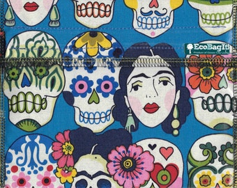 SaLE EcoBagIt! XL - Keep Fresh reusable sandwich bag: DAY of the DEAD