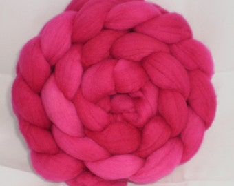 Wool Roving- Outrageous Pink