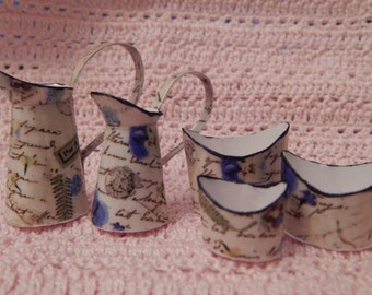 Miniatures,dollhouse.Set of pots and pans