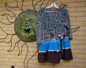 Upcycled Funky Women's Top size Large