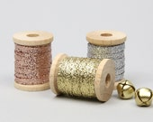 Metallic Braided Ribbon 1/8 Inch - 3 Colors- Metallic Ribbon, Wedding Ribbon, Silver Ribbon, Gold Ribbon, DIY Weddings