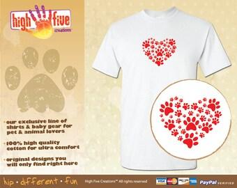 Dog T-Shirt - Paw Heart